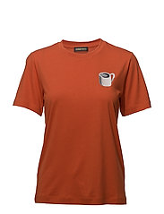Milo, 412 Placement Tee - COFFEE