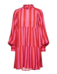 Jasmine, 416 Viscose - STRIPES RASPBERRY