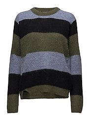 Livia, 435 Forest Stripe Knit - FOREST STRIPE