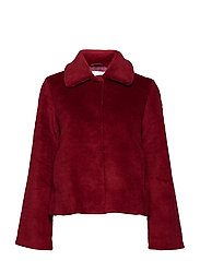 Gira, 478 Faux Fur Outerwear - RED