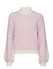 Carlo, 480 Contrast Cable Knit - PINK