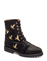 Gustav, 496 Velvet Shoes - DOVES BLACK