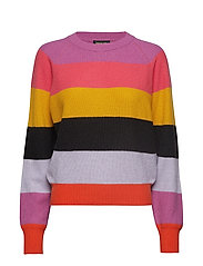 Magdalena, 584 Stripes Knitwear - 1444 STRIPES PINK