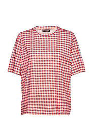 Leonie, 662 Allover Tee - GINGHAM CLAY