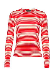 Maya, 623 Light Jersey - STRIPES RED