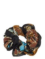 Scrunchy, 637 Organza - FLOWER GARDEN AUTUMN