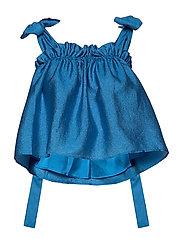 Gia, 784 Textured Poly - BLUE