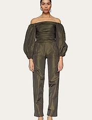STINE GOYA - Laia, 924 Taffeta - bukser med lige ben - seaweed green - 0