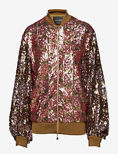 Clive, 443 Sequins Jacket - bomber jacks - hexagons soft