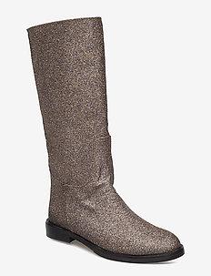 Kasia, 455 Glitter Shoes - lange laarzen - violeta glitter