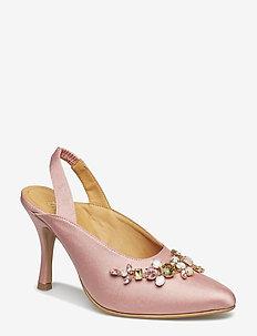 Lucia, 460 Satin Pumps - talons à bride arrière - pink