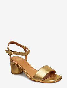Oda, 539 Gold Leather Shoes - GOLD