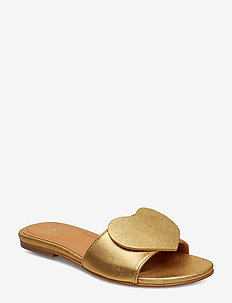 Amina, 539 Gold Leather Shoes - GOLD