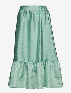 Betty, 576 Textured Polyester - maxi skirts - 1708 jade