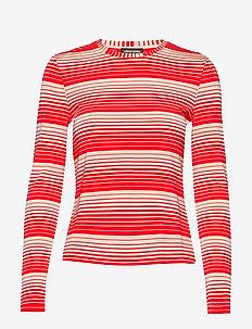 Maya, 623 Light Jersey - STRIPES RED