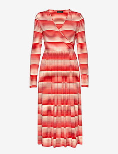 Alina, 623 Light Jersey - wrap dresses - stripes red