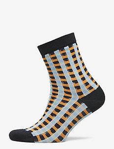 Tilly, 640 Socks - GINGHAM ORANGE