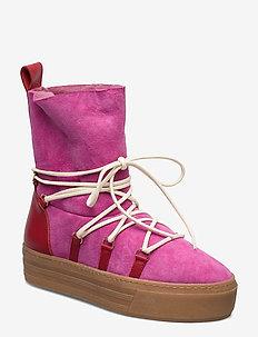 Gale, 679 Winter Boots - niski obcas - brandy