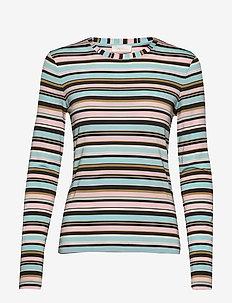 Maya, 686 Light Jersey - stribede t-shirts - stripes multi