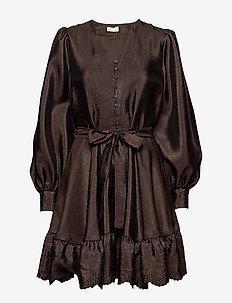 Farrow, 699 Textured Polyester - korte kjoler - mocha