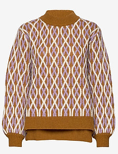 Anders, 726 Cable Knitwear - neulepuserot - brown