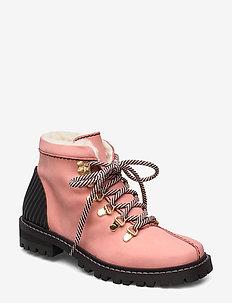 Isak, 753 Isak Boots - niski obcas - pink