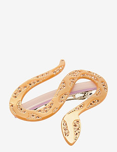 Snake, 756 Hair Clip - accessories - yellow