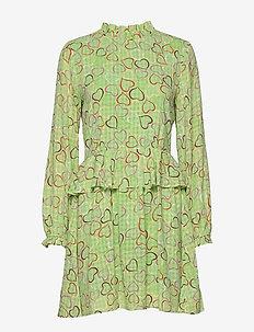 Christine, 783 Hearts Poly - korte kjoler - hearts green