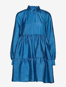 Jasmine, 784 Textured Poly - kort kjoler - blue