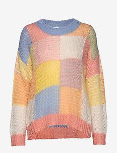 Sana, 820 Gingham Knitwear - GINGHAM PASTEL