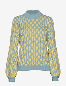 Carlo, 822 Cable Knitwear - LIGHT BLUE