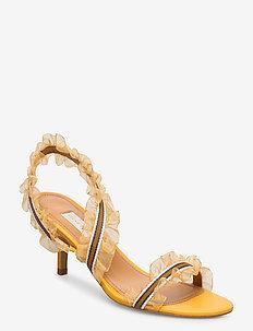 Loretta, 835 Loretta Heel - sandały na obcasie - peach ombre