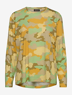 Caleb, 840 Allover Tee - langærmede toppe - camouflage green