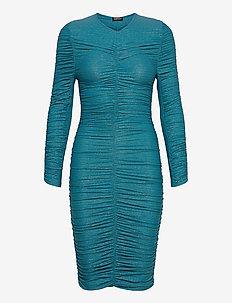 Blake, 850 Glitter Jersey - midi kjoler - turquoise