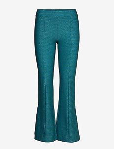 Melanie, 850 Glitter Jersey - wide leg trousers - turquoise