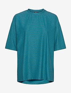Boris, 850 Glitter Jersey - striped t-shirts - turquoise