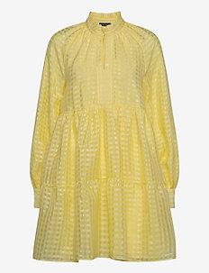 Jasmine, 864 Gingham Poly - korta klänningar - marigold