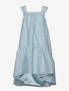 Serena, 864 Gingham Poly - midi kjoler - ice