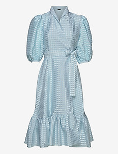 Chinie, 864 Gingham Poly - robes portefeuille - ice
