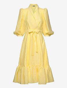 Chinie, 864 Gingham Poly - slå-om-kjoler - marigold