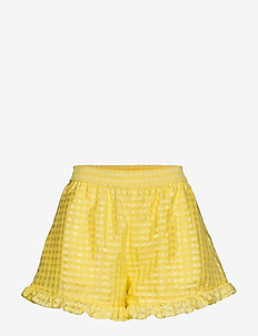 Joselyn, 864 Gingham Poly - casual shorts - marigold