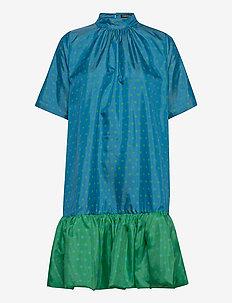 Wendy, 870 Green Blue Dots - midi kjoler - blue green