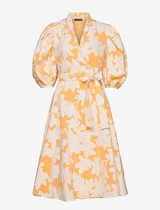 Belinda, 846 Cotton Jacquard - slå-om-kjoler - flora