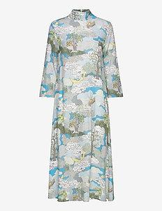 Dean, 843 Dreamscape Viscose - midi kjoler - dreamscape aqua