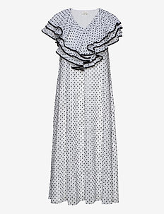 Claire, 845 Chiffon Mix - midi kjoler - dots black
