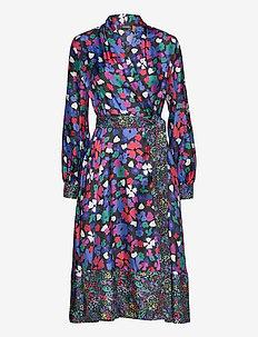Reflection, 883 Wildflowers Silk - wrap dresses - wildflowers