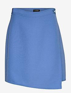 Alexa, 865 Solid Cady - korte nederdele - cornflower blue