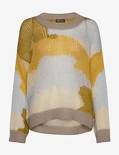 Sana, 879 Camouflage Knit - tröjor - camouflage khaki