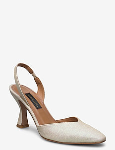 Agatha, 884 Glitter Shoes - sling backs - champagne