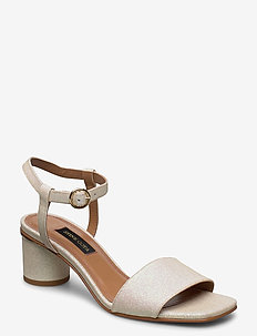 Oda, 884 Glitter Shoes - heeled sandals - champagne